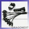 10 in 1 Universal Cell Phone PSP Digital Camera USB Wall Car Charger Adapter
