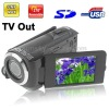 12 Mega Pixels Digital Camera with 2.4 inch TFT LCD Screen, 270 degree rotation, Support TV Out (Black)