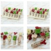 14 x Letter Wooden Photo Clips Note Memo Pegs w/ String