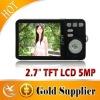 2.7''TFT inch LCD 5MP CMOS Digital Camera Interpolation Sensor with 4X Digital Zoom/Micro-SD Card Slot