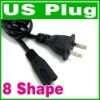 2 Prong US AC Power cord Cable