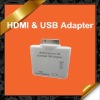 2 in 1 HDMI USB Adapter for iPad iPhone 4 iPod touch 4 KCA020
