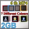 "2011 6th Gen 1.8"" Touch Screen Digital Mini MP3 MP4 Music Player 16GB FM Radio 7 Colors"