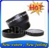 2012 Popular ZOOM 43mm 2.0X Tele Lens For Panasonic HDC HS300 TM300 BLACK