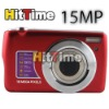 "2Pcs/lot 15MP 2.7"" LCD Digital Camera Anti Shake Telescopic Lens 3X Optical Zoom DC #7 Free AIR Mail ONLY"