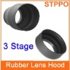 3 Stage Rubber Camera  Lens Hoods