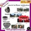 3 in 1 Lens Kits fisheye+wide angle+2X telephoto lens camera accessory camera lens lens for digital camera