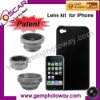 3 in 1 Lens Kits fisheye+wide angle+2X telephoto lens camera accessory camera lens lens for iPhone / mobile phone
