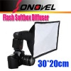 30x20cm Portable Flash Softbox / Soft box / Diffuser for Speedlite Speedlight Flashgun