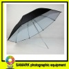 33 inch rubber umbrella lambency black and white umbrella