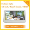 4.3 inch Touch Screen MP4 Player with HDMI