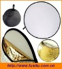 """43"""" 110CM Round Multi Disc Light Reflector! Portable, 5 in 1: Translucent, Silver, Gold, White, and Black! Collapsible!"""