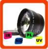 43mm 2.0X Tele Lens For Panasonic HDC HS300 TM300 BLACK