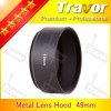 49mm Lens hood of metal for any 46mm screw lens