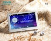 5 inch touch screen, MP4 video player support 720P video, games,music, TF card slot