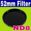 52 mm Neutral Density ND 8 ND8 Glass Filter + Case Digital Camera Filter