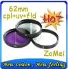 62mm UV+FLD+CPL For Canon & Nikon & Sony