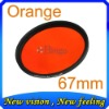 67mm Gradual color filter Full Orange color