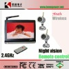 "7"" LCD Wireless Baby Monitor With Color CCTV Night Vision Camera & Remote Control"