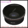 72mm 0.45X Wide angle Lens with Macro(Filter Diameter 82mm)