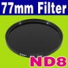 77 mm Neutral Density ND 8 ND8 Glass Filter + Case Camera Filter