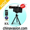 8X Zoom Optical Telescope Lens with Tripod For iPhone 4