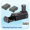 Black Battery Grip replace BG-E3 + 2pcs NB2LH