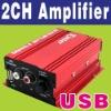 Boat Car Power Hi-Fi Speaker Stereo Amplifier