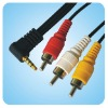 CAMCORDER AV CABLE 3.5mm JACK M TO 3 RCA M 6FT.