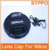 Center Pinch Camera Lens Cap For Nikon
