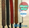 Colorful Alligator Strip Leather Camera Strap