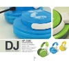 Colorful DJ headphone