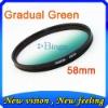 DSLR camera graduated filter 58mm gradual color filter