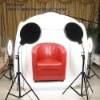 DiVi Studio Tent 150cm 5 Double Ring lights Round Tent
