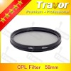 Digital Camera Lens Filter CPL 58mm Glass filter