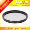 Digital Camera Lens Filter ND Filter ND2 58mm Glass filter
