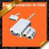 Dock Connector to VGA Adapter Cable with Audio output for iPad iPhone iPod KCA037