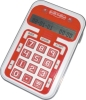 Electronic brain trainer game with calculator
