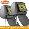 "Erisin Car Pillow 2x9"" LCD CAR Headrest Monitor DVD Player IR Transmit"