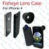 Fisheye Lens + Hard Back Cover For iPhone/iPhone 4