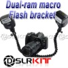 Flexible Dual-arm Dual-shoe Flash Bracket for MACRO SHOT for CANON NIKON PENTAX