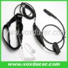 For RELM radio RPV3000 RPU3600 covert tube throat vibration earphone