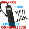 Fotga Wholesale Changeable Timer Remote Cord for Canon 1100d 60d 600d