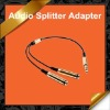 Gold 3.5mm Earphone Headphone Stereo Audio Splitter Cable Adapter for iPod iPhone KCA012
