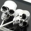 Gothic Metal Skull Earbud Headphones