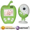 Green apple baby monitor with time and temperature displayed(reasonable price)
