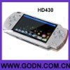 HD430 pop mp4 movie 4GB 4.3inch TFT screen 4gb handled game player  support camera, TV OUT ,8/16/32 bits games