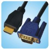 HDMI GOLD MALE TO VGA HD-15 MALE Cable 6FT 1.8M 1080P
