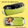 """Hot-sale 3D 300K pixels digital photo camera with 1.44"""" TFT LCD -- gift for kids (TDC-018)"""