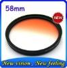 Hottest ZOMEI High Quanlity 58mm Gradual Orange filter